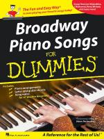 Broadway Piano Songs For Dummies Sheet Music