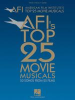 American Film Institute's Top 25 Movie Musicals Sheet Music