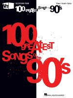 Vh1's 100 Greatest Songs Of The '90s Sheet Music