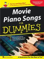 Movie Piano Songs For Dummies Sheet Music