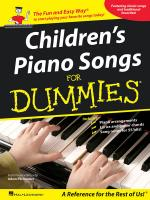 Children's Piano Songs For Dummies Sheet Music