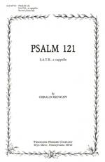 Psalm 121 - SATB, A Cappella PIANO REDUCTION/VOCAL SCORE Sheet Music