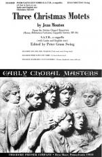 Puer Natus Est Nobis - Motet For Four-Part (SATB) Chorus, A Cappella CHORAL PART(S) Sheet Music