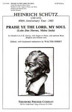 Praise Ye The Lord, My Soul - Lobe Den Herren, Meine Seele - For Double SATB Chorus, With Organ Or P Sheet Music