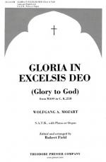 Gloria In Excelsis Deo - From Mass In C (Glory To God) K 258 PIANO REDUCTION/VOCAL SCORE Sheet Music