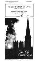 To God On High Be Glory - SAB And Keyboard CHORAL PART(S) Sheet Music