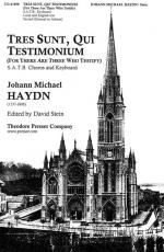 Tres Sunt, Qui Testimonium - (For There Are Three Who Testify) PIANO REDUCTION/VOCAL SCORE Sheet Music