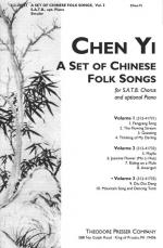 A Set Of Chinese Folk Songs (Volume 3) - For SATB Chorus And Optional Piano PIANO REDUCTION/VOCAL SC Sheet Music