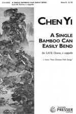 A Single Bamboo Can Easily Bend - From Two Chinese Folk Songs, For SATB Chorus, A Cappella PIANO RED Sheet Music
