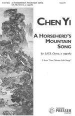 A Horseherd's Mountain Song - For SATB Chorus, A Cappella, From Two Chinese Folk Songs PIANO REDUCTI Sheet Music
