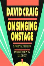 On Singing Onstage Sheet Music