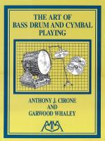 Art Of Bass Drum And Cymbal Playing Sheet Music