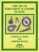 Art Of Percussion Accessory Playing Sheet Music