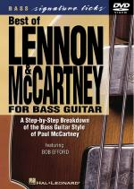 Best Of Lennon & Mccartney For Bass Guitar Signature Licks DVD Sheet Music