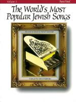 The World's Most Popular Jewish Songs For Piano, Volume 1 Sheet Music