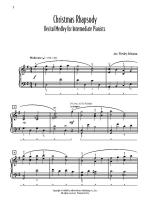 Christmas Rhapsody: Recital Medley for Intermediate Pianists (O Come, All Ye Faithful / Silent Night Sheet Music