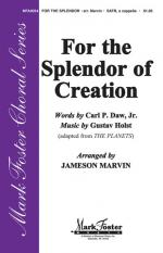 For The Splendor Of Creation Sheet Music Sheet Music