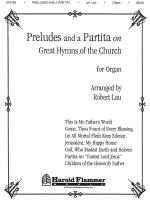 Preludes And A Partita On Great Hymns Of The Church Organ Collection Sheet Music