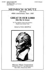 Great Is Our Lord - (Der Her Is Gross) - For Medium Voices And Continuo (English And German Tex PIAN Sheet Music