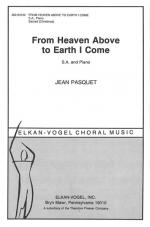 From Heaven Above To Earth I Come - CHORAL PART(S) Sheet Music