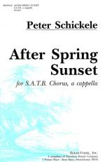 After Spring Sunset - For SATB Chorus, A Cappella On Japanese Poems PIANO REDUCTION/VOCAL SCORE Sheet Music