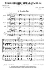 Three Choruses From E.E. Cummings Sheet Music