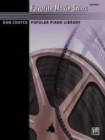 Dan Coates Popular Piano Library: Favorite Movie Solos - Book Sheet Music