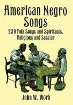 American Negro Songs: 230 Folk Songs - Book Sheet Music
