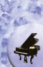 Recital Program Blank #29: Piano with Watercolor (Pack of 25) - 25 Program Blanks Sheet Music