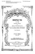 Oedipus Tex Dramatic Oratorio Or Opera In One Cathartic Act - For SATB Chorus, Soprano, Mezzo-Sopran Sheet Music