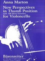 New Perspectives In Thumb Position For Violoncello - With 100 Short Exercises SOFT COVER Sheet Music