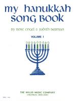 My Hanukkah Song Book Volume 1/Early Intermediate Level Sheet Music