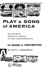 Play A Song Of America - 35 Favorite American Songs In Easy Arrangements For Band Or Orchestra PART( Sheet Music