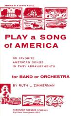 Play A Song Of America - 35 American Songs In Easy Arrangements For Band Or Orchestra PART(S) Sheet Music