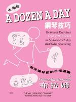 A Dozen A Day Mini Book - Chinese Edition Sheet Music
