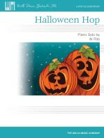 Halloween Hop Willis Music Spectacular Solos/Later Elementary Level Sheet Music Sheet Music