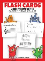 Flash Cards John Thompson's Easiest Piano Course Sheet Music