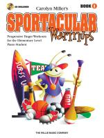 Sportacular Warmups - Book 1 Progressive Finger Workouts Book/CD Pack Sheet Music