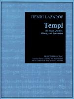 Tempi - For Brass Quintet, Winds, And Percussion - Full Score FULL SCORE - STUDY Sheet Music