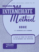 Rubank Intermediate Method - Oboe Sheet Music