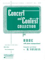 Concert And Contest Collection Oboe - Piano Accompaniment Sheet Music