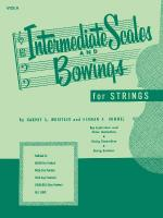 Intermediate Scales And Bowings - Full Score Sheet Music