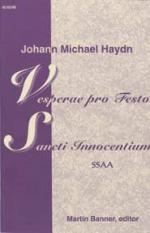 Vesperae Pro Festo Sancti Innocentium Sheet Music