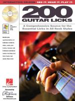 200 Guitar Licks A Comprehensive Source For The Essential Licks In All Rock Styles Sheet Music