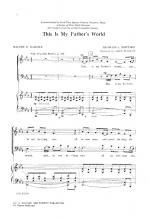 This Is My Father's World Sheet Music Sheet Music