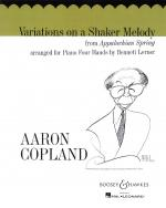 Variations On A Shaker Melody From Appalachian Spring One Piano, Four Hands Sheet Music