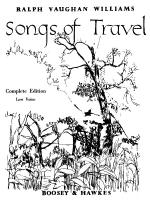 Songs Of Travel Low Voice Sheet Music