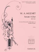 Sonata In A Major, K. 331 Score And Parts Sheet Music