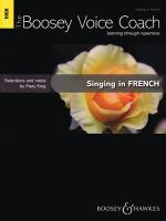 Singing In French - High Voice The Boosey Voice Coach Sheet Music
