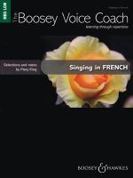 Singing In French - Medium/Low Voice The Boosey Voice Coach Sheet Music